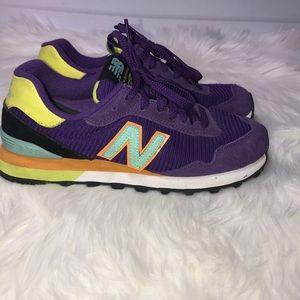 New Balance 515 Purple, Blue, and Yellow Size 6.5